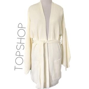 Topshop oversized chunky cable knit cardigan M